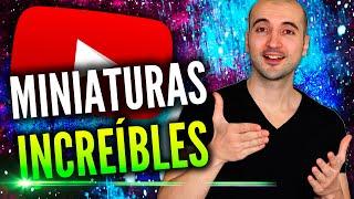 Cómo Crear MUY Buenas Miniaturas Para YouTube Sin Programas! thumbnail