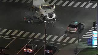 4/5/18: High Speed Crash Car VS Semi Truck - Unedited