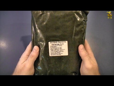 MRE Review - Lithuanian Army Combat Ration - Pork Stew with Vegetables (No. 5)