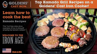 Top Kamado Grills - Goldens' Cast Iron - Best BBQ Smoker Cooker