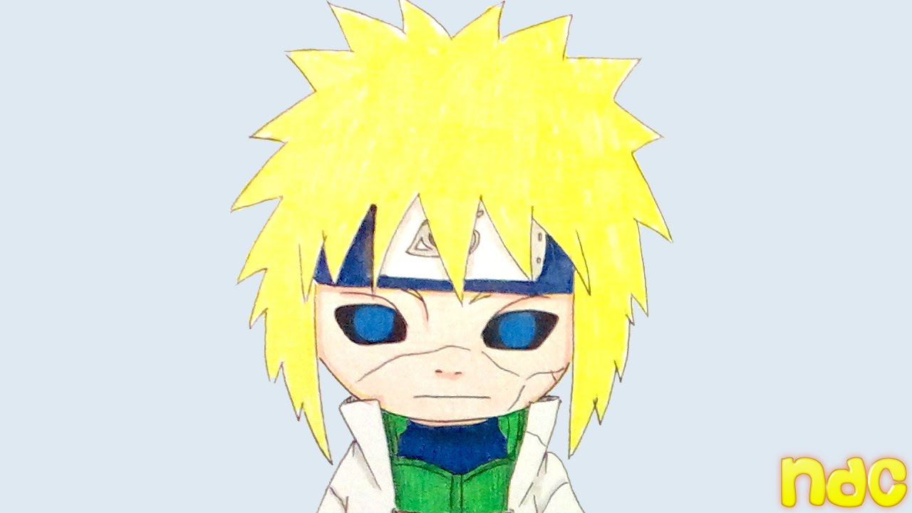 Speed Drawing Chibi Edo Tensei Fourth Hokage Minato Namikaze From Naruto Shippuden Youtube