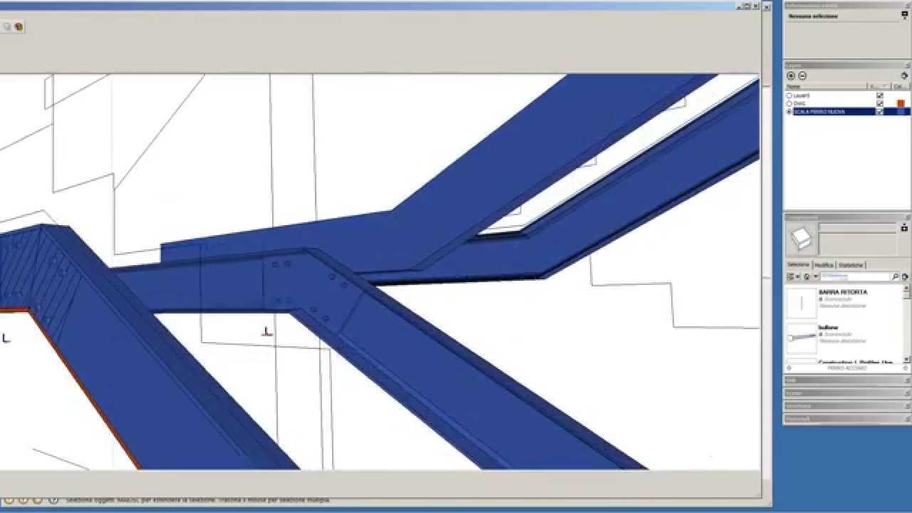 Scala in profili di acciaio youtube for Profili per gradini in acciaio