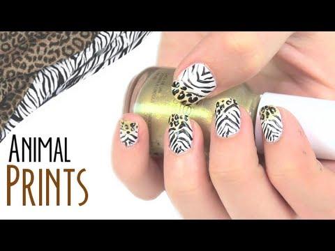 Dise o de u as animal prints youtube for Disenos de unas de pies