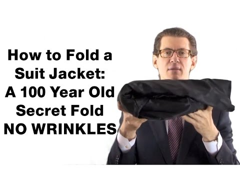 How To Fold A Suit Jacket & Pack Suits NO Wrinkles SUITCAFE.COM