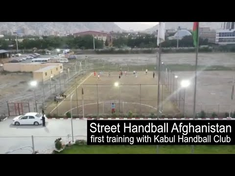Street Handball Afghanistan first training with Kabul Handball Club