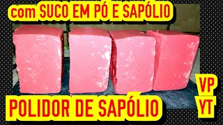 SABÃO BRILHA ALUMÍNIO DE SAPÓLIO E SUCO EM PÓ
