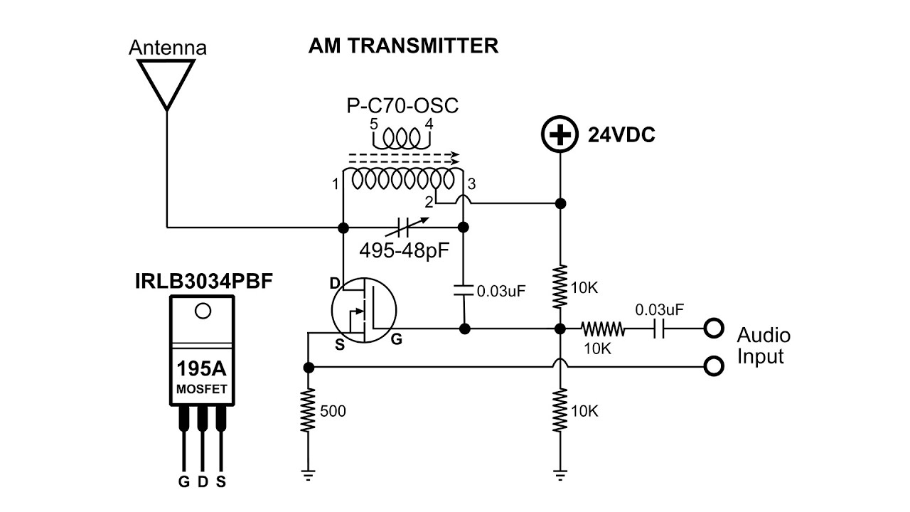am transmitter solid state build and demo youtube am transmitter circuit using transistor am transmitter schematic [ 1280 x 720 Pixel ]