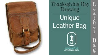 [Thanksgiving Giveaway] Unique Leather bag