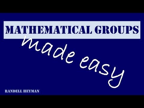 Mathematical groups made easy