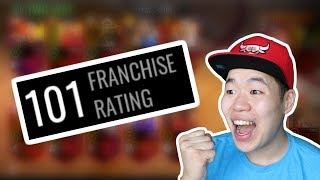 Insane 101 Franchise Rating  - Complete Madness -Nba Live Mobile