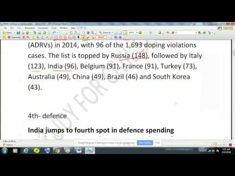 INDIA's rankings in Various Index - Latest 2016