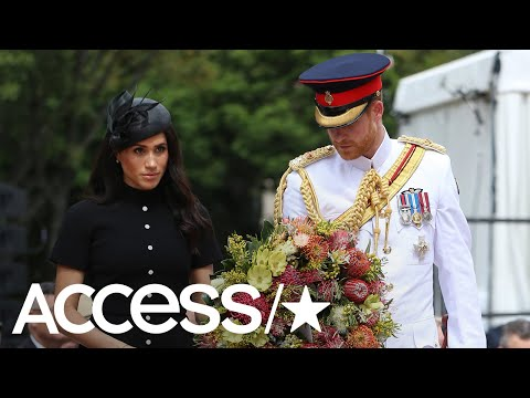 Prince Harry & Meghan Markle Honor Fallen Veterans On Day 5 Of Their Royal Tour | Access