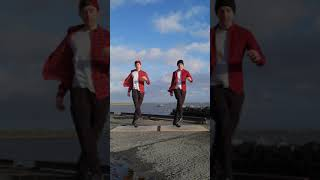 Shuffle x Irish Dance!! (Bruises by Lewis Capaldi) #shorts #cuttingshapes #irishdance