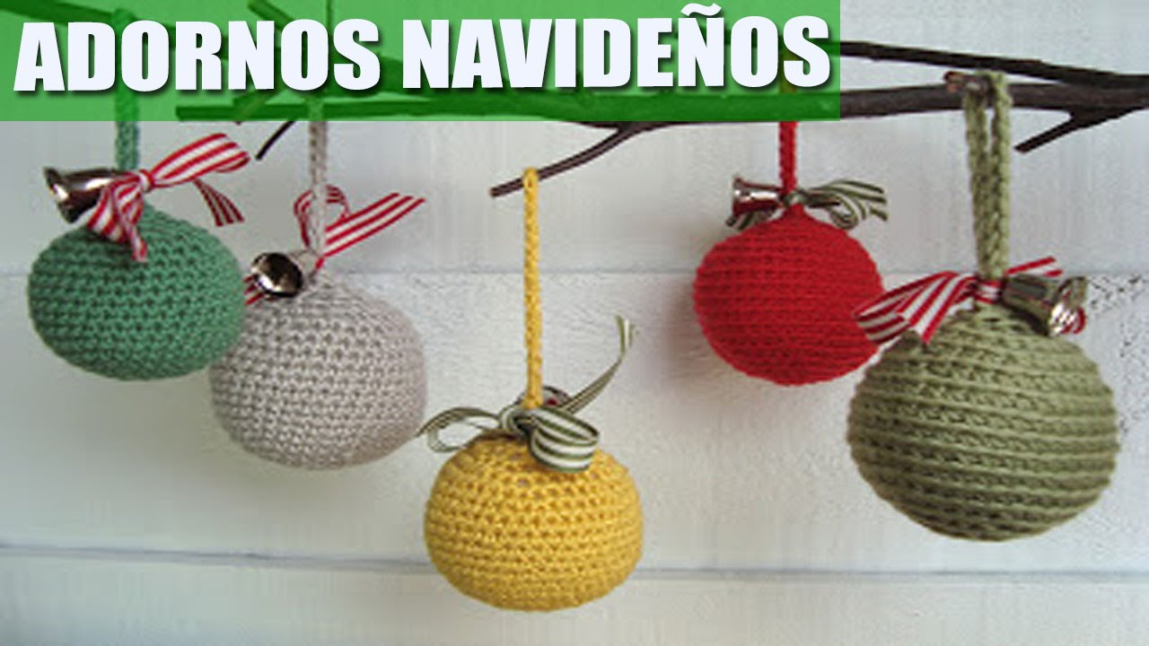 Adornos navide os a crochet ideas youtube for Adornos navidenos en 5 minutos