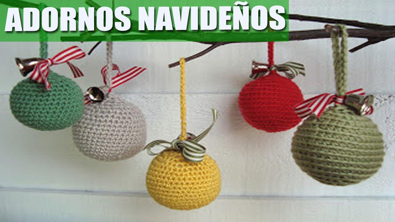 adornos navide os a crochet ideas youtube On adornos navidenos a crochet