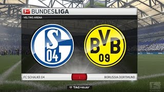 FIFA 17 Bundesliga Prognose   26. Spieltag: FC Schalke 04 - Borussia Dortmund