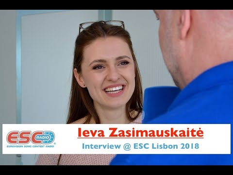 Ieva Zasimauskaite (Lithuania) interview @ Eurovision 2018 Lisbon | ESC Radio