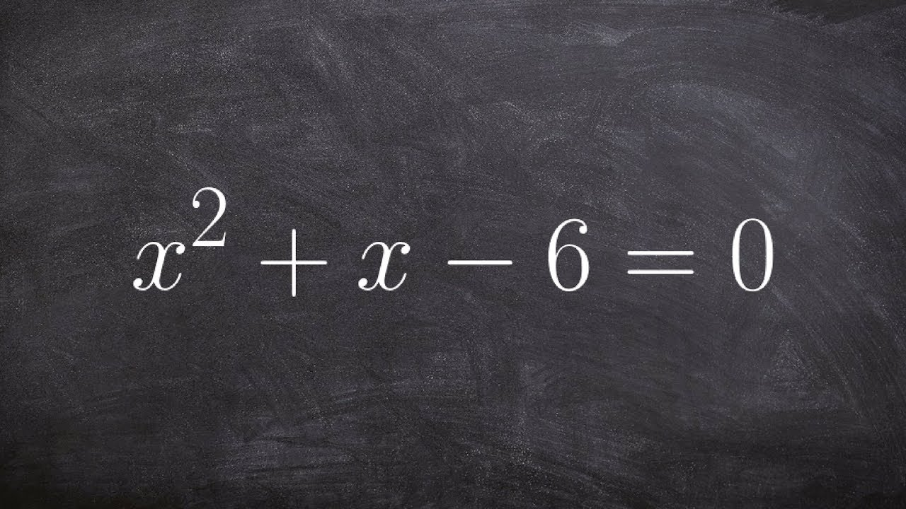 Algebra 2  Solving Bypleting The Square X^2+x6=0