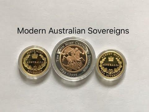 Modern Australian Gold Sovereigns - 1999 Perth Mint , 2005 Sydney Mint , 2013 Perth Mint