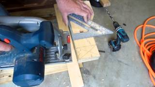 How I Recycled An Old Coffee Table To Build A Portable Miter Saw Work Table