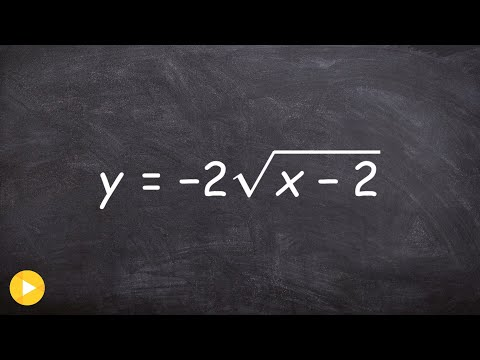 How To Graph The Equation Of A Square Root