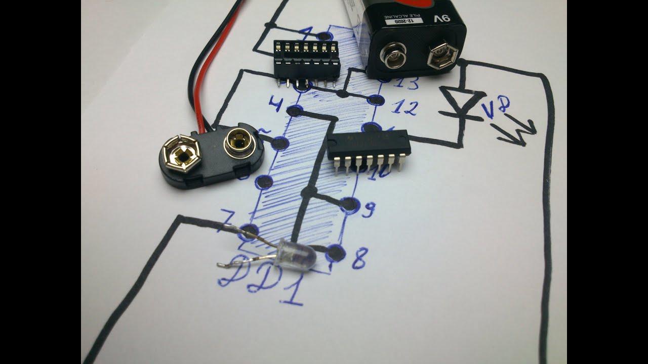 Схема прибора для поиска проводки фото 635