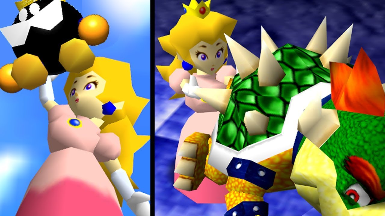 Super Mario 64 Mod GIANT PEACH