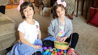 Surprise Eggs!! Easter Egg Hunt - Happy Easter!   Twin Family Fun Vlogs