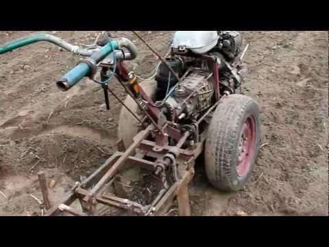 видео: Самодельный мотоблок с картофелекопалкой
