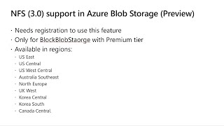 NFS 3.0 support for Azure Blob storage