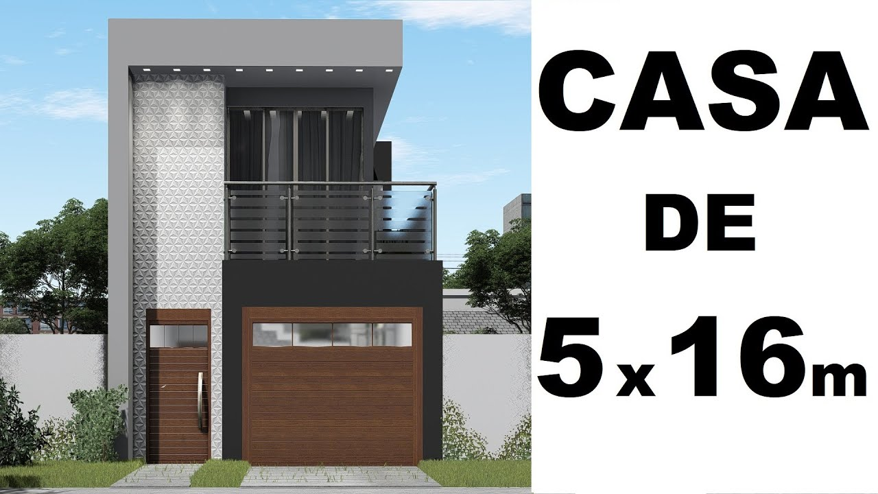 Download CASA PEQUENA DE 5 X 16 metros - 3 QUARTOS