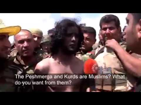 Surrendered ‪ISIS‬ militants in ‪Khazir‬ talk to ‪Rudaw