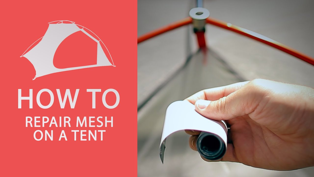 & Tent Repair - How To Repair Tent Mesh - YouTube