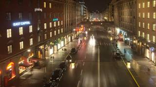 Футаж Огни города Ускоренная сьемка