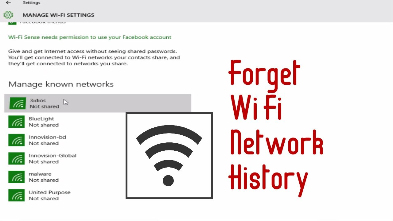 how to clear network history