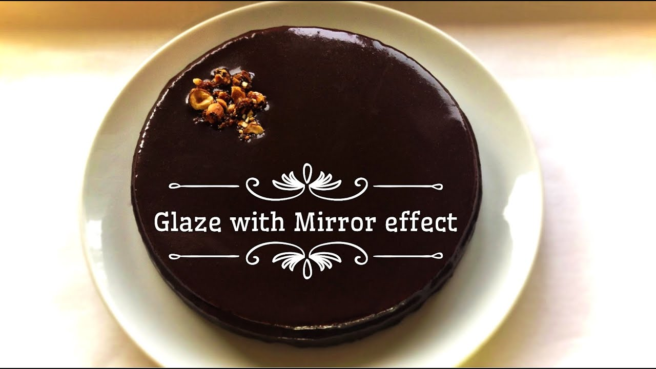 Chocolate icing glaze with a mirror effect recipe and for Mirror glaze
