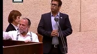 ערוץ הכנסת - אורן חזן מורחק מהמליאה בעקבות עימות עם יצחק כהן, 15.7.15