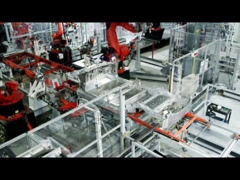 Inside Tesla: A Massive Factory Pumping Out Model S