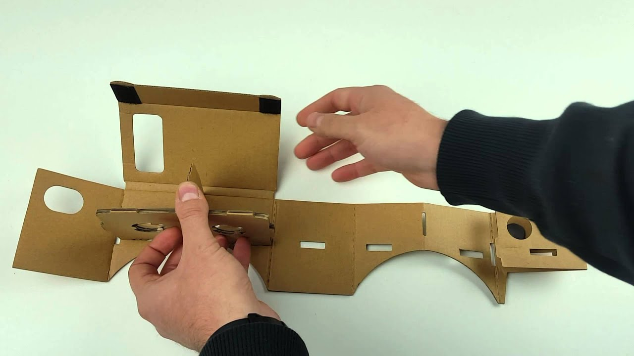 cc71005ca45c37 Google Cardboard Assembly - Step by Step Instructions - YouTube