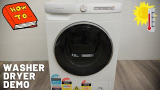 2021 Samsung Washer Dryer Washing Machine How To Use Guide