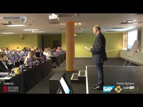Ian Merrington, MC opening Day 1 of Blockchain Africa Conference 2017