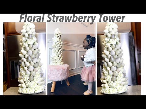 Giant Chocolate Covered Strawberry Floral Tower Tutorial