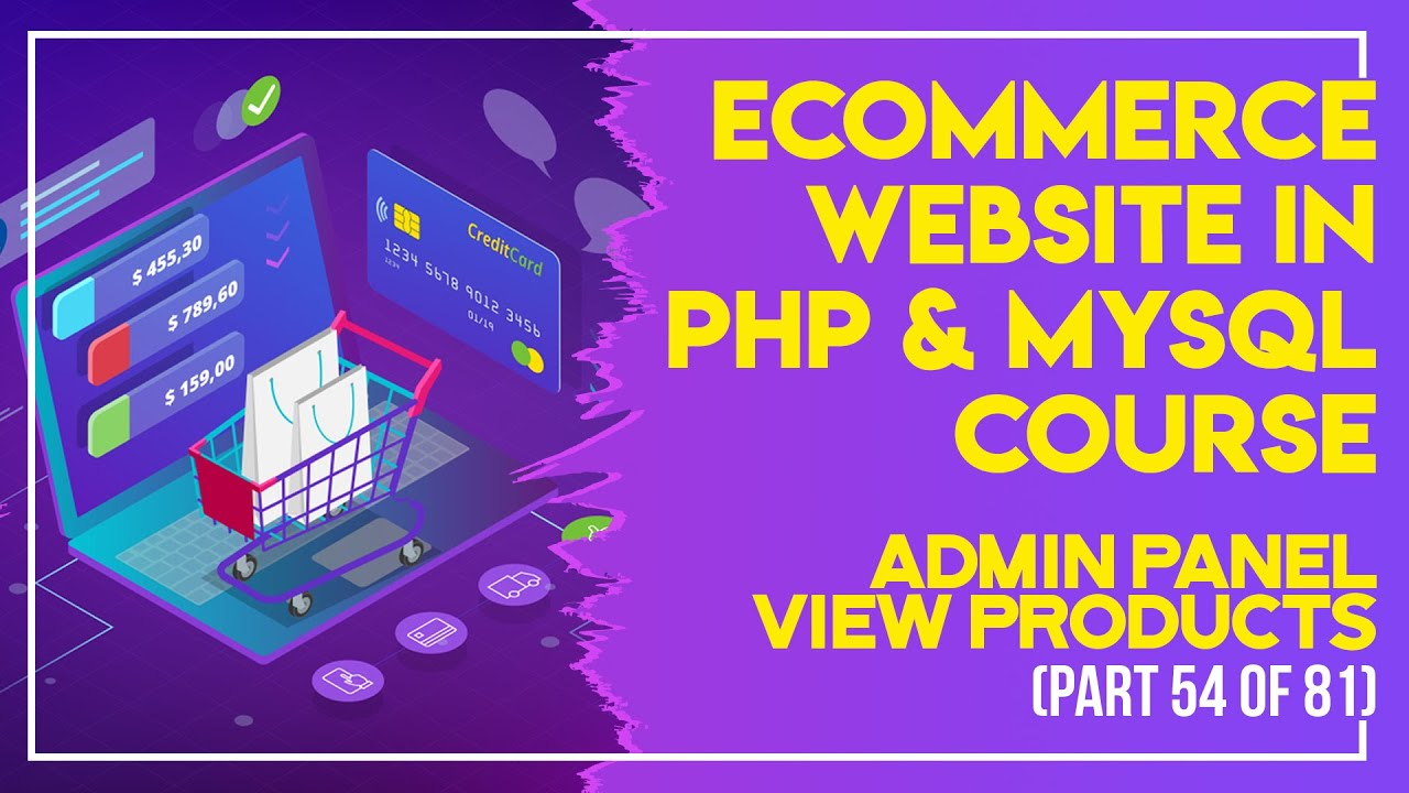 E-Commerce website in PHP & MySQL in Urdu/Hindi part 54 admin panel view products