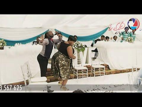 MC Ba Sunshine Dances to Jah Prayzer's Ndini Ndamubata at a wedding with a rich woman-must watch