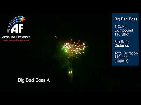 Absolute Fireworks Big Bad Boss – 110 Shot Compound Barrage @ Astounded Fireworks