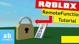 Roblox FilteringEnabled Tutorial - RemoteFunctions