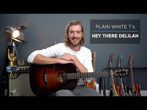 How to play HEY THERE DELILAH - Fingerstyle Guitar Lesson - Plain White T's