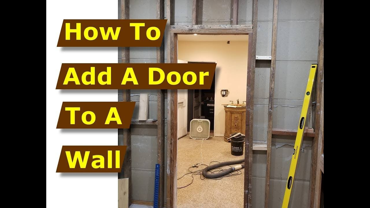 How to Add/Build a Door Frame in a Wall After Cutting the Opening ...