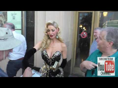 Cassandra Cass greets fans at the Cabaret Opening Night at Pantages Theatre in Hollywood
