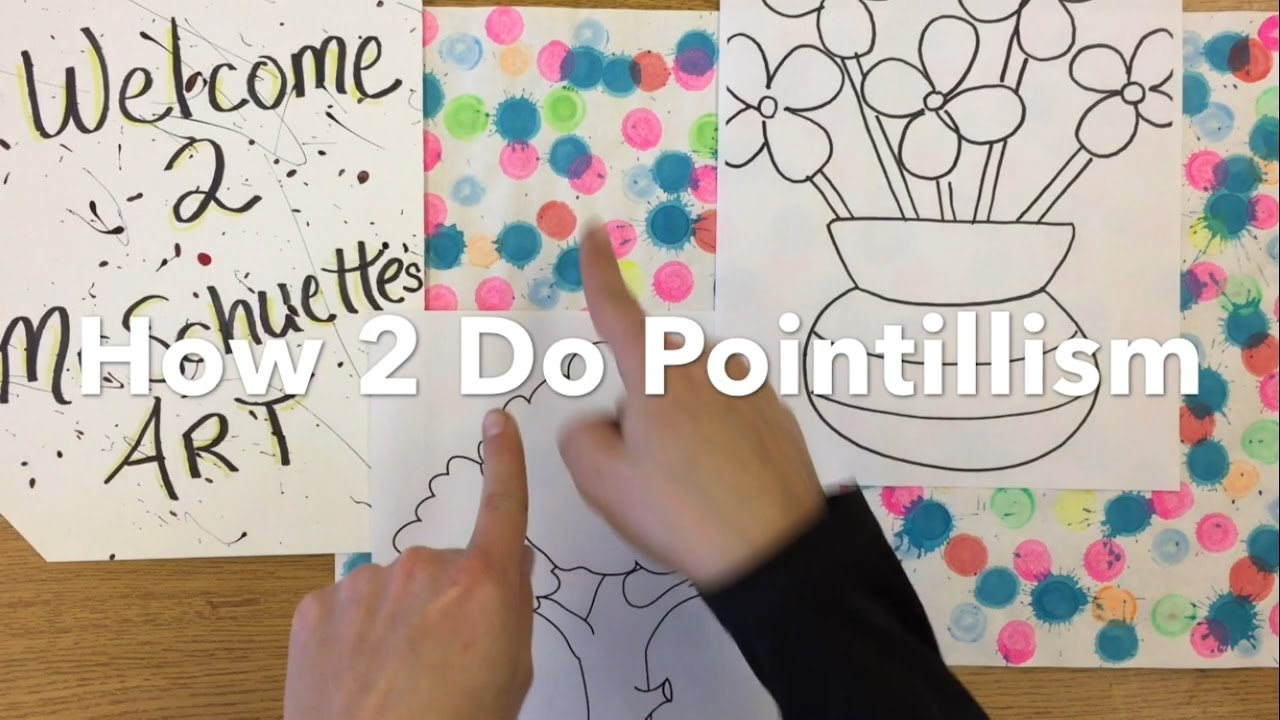 How To Do Pointillism For Kids Dot Art That S Easy Fun Mr